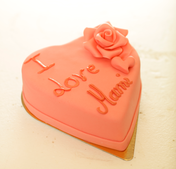 Herz Torte Rosa